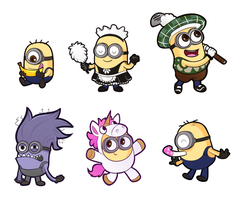 Minion stickers by chibitracydoodles