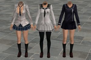 'TES4: Oblivion' Sailorfuku Pack 2 XPS ONLY!!! by lezisell