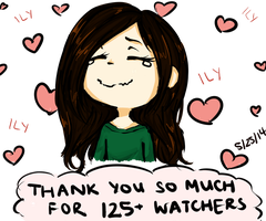 THANKS FOR 125 WATCHERS and a Raffle? (read desc.) by jellification