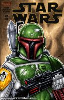 Boba Fett sketch cover by gb2k