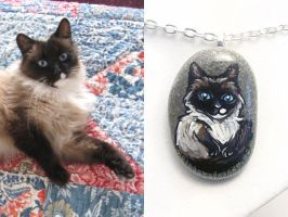 Custom Cat Pendant Necklace by sobeyondthis
