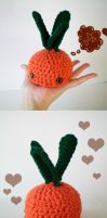 MOCHI Gilbert the happy carrot by bobbin4apples