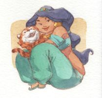 Jasmine and Baby Rajah by bureiku
