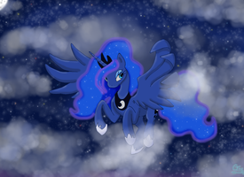 Nightfall on the Moon by Xiroch