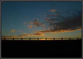 Fenced Dusk by rockgem