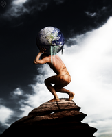 Earth falling for the Atlas by physiks