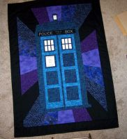 TARDIS Quilt by EHyde