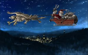 Holiday card by MinnaSundberg