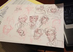Doctor Who Doctors Doodles by MAYUKUROCHAN