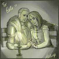 Cullen and Rhiamon Amell by MellorianJ
