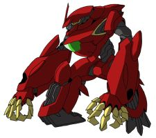 ovm-wwr Wrozzo R (mobile suit mode) by unoservix