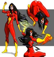 Spider-woman Animated by CHUBETO