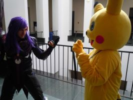 Caius vs Pikachu by axel-fire