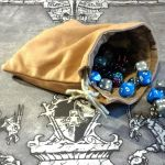 Handmade Drawstring Dice Bag or Coin Pouch by Rubiconia