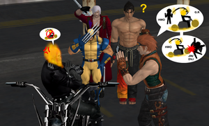 Hwoarang's wish to be a Ghost Rider by LarsMasters