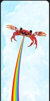 Another crab farting a rainbow by Neg-319