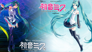 Hatsune Miku V3 and Hatsune Miku English Wallpaper by alatnet