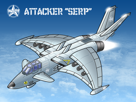 Aerospace Attacker Colored by vpRaptor