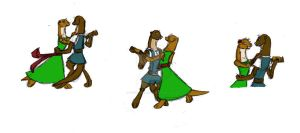 Dancing otters sketches by PsychoAngel51402