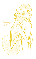 Anthro Fluttershy by Ambris