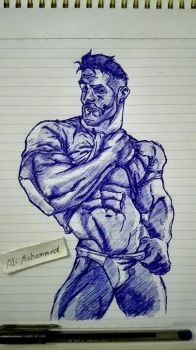 muscles sketch by Beastopop