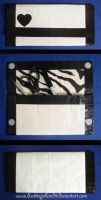 B+W Duct Tape Zebra Clutch by DuckTapeBandit