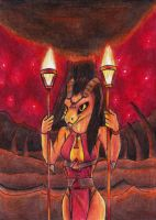 (PINUP WEEK) Fire Priestess by Specter1099