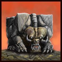 Cubic monster by Crowsrock