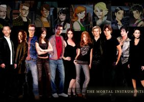 The Mortal Instruments Cast by bluesthour