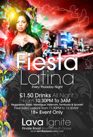 Fiesta Latina Flyer by DeityDesignz