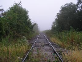 S.S. Foggy Tracks by shudder-stock