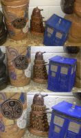 Doctor Who Ceramic Ensemble by Timelady-Saxon