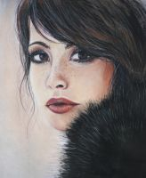 Girl in the fur coat by JoanneBarby