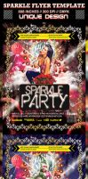 Sparkle Party and Club Flyer Template by ShermanJackson