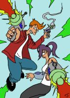 Fry and Leela adventure by coldangel1