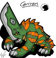 Godzilla Animated: Guiron by Blabyloo229