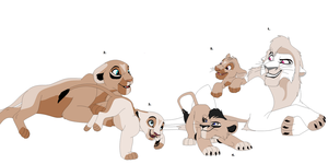 Lion Family Adoptables #1 ~ *CLOSED* by Adopting-Angels