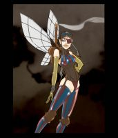 Steampunk fairy by OliverHarud