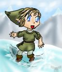 TP - Chibi Link snowboarding by Clopina
