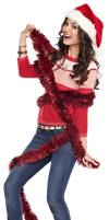 Victoria Justice Christmas Png by bernadett98