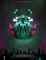 Hatsune Miku concert poster by theonewhodoodles
