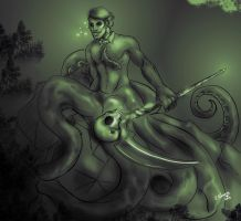 Hannibal mermaid AU - The Warlock by FuriarossaAndMimma