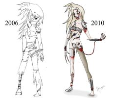 Biogirl 1 - Orig. and Redrawn by alexfan101