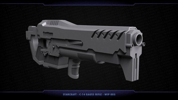 Starcraft - C-14 Gauss Rifle - Work-in-progress 03 by samcote