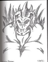Demon Sketch by Phycosmiley