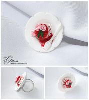 Cake with rose by OrionaJewelry