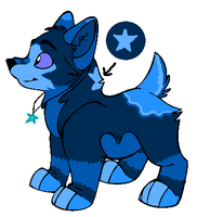 Blue Wolf Pup Adoptable closed by MapleKennels