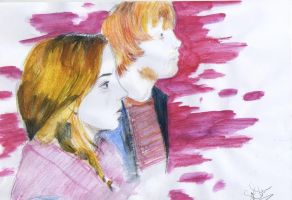 Ron and Hermione by SophieAnna97
