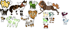 leftover mixed adopts - open - read des! by MACABREMUTT-ADOPTS
