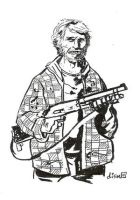Hobo with a shotgun by didism